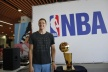 Timofey Mozgov presented the NBA champion trophy in Krasnodar